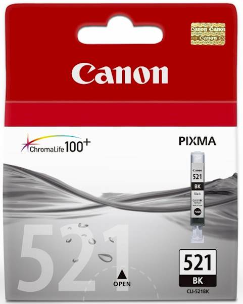 ČRNILO CANON CLI-521 ČRNO ZA IP3600/4600/MP540/MP620 ZA 9ml