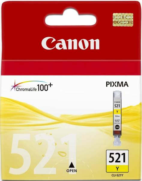 ČRNILO CANON CLI-521 RUMENO ZA IP3600/4600/MP540/MP620 ZA 9ml