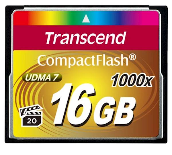 CF TRANSCEND 16GB 1000X ULTIMATE, 160/120MB/s, MLC