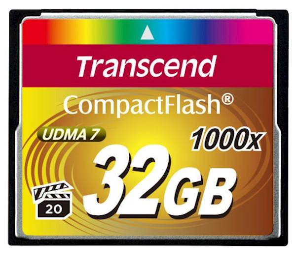 CF TRANSCEND 32GB 1000X ULTIMATE, 160/120MB/s, MLC