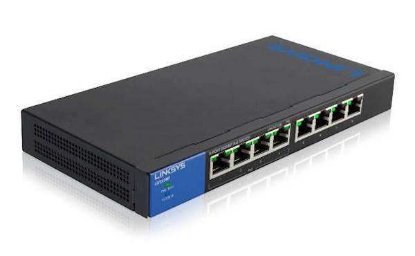 Linksys Small Business 8 portno PoE stikalo LGS108P