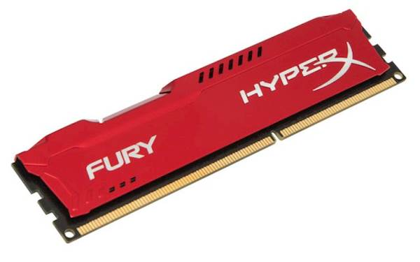 RAM DDR3 4GB PC1600 HX FURY RED, CL10, 1Rx8