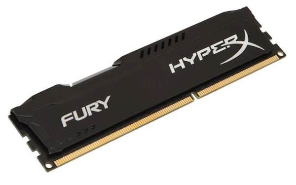 RAM DDR3 4GB PC1600 HX FURY BLACK, CL10, 1Rx8