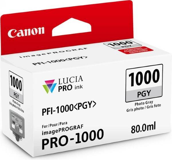 ČRNILO CANON PFI-1000 PHOTO GREY ZA IMAGEPROGRAF PRO-1000, 80 ml