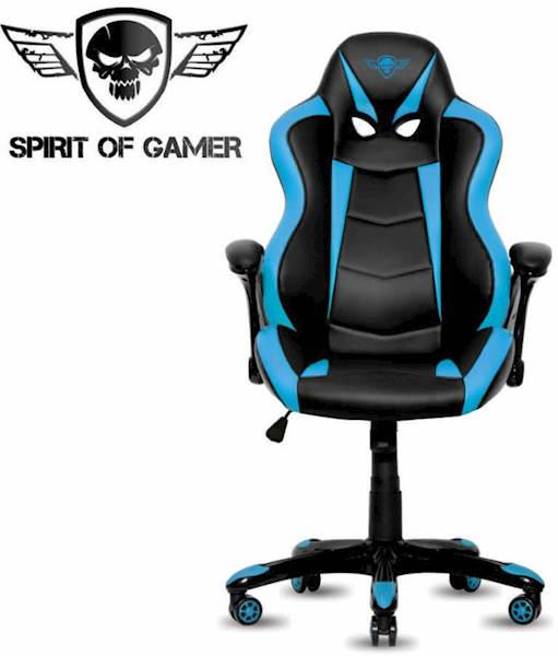 Gaming stol Spirit of gamer RACING črno-modre barve
